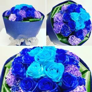 ブルーの花束。